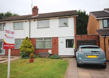 Thumbnail 3 bed semi-detached house to rent in Aldersley Road, Tettenhall, Wolverhampton
