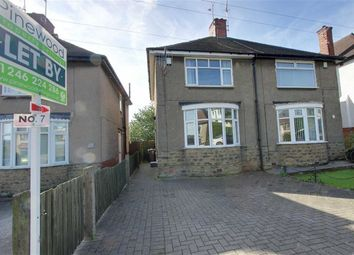 Thumbnail 2 bed semi-detached house to rent in Clarkson Avenue, Boythorpe, Chesterfield, Derbyshire