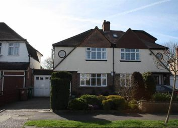 Thumbnail 3 bed semi-detached house for sale in Ewell Park Way, Stoneleigh, Epsom