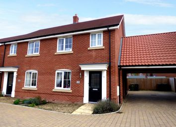 Thumbnail 3 bed semi-detached house for sale in Jermyn Way, Tharston, Norwich