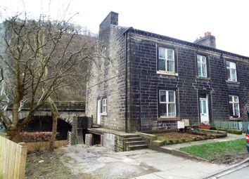 Thumbnail 3 bed end terrace house for sale in Calderside, Hebden Bridge