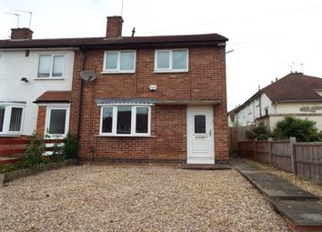 Thumbnail 3 bed end terrace house to rent in Eddystone Road, Leicester