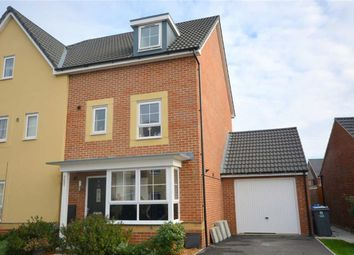 Thumbnail 4 bed semi-detached house for sale in Foxwhelp Way, Quedgeley, Gloucester