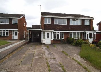 Thumbnail 3 bedroom semi-detached house to rent in Overdale Drive, Walsall