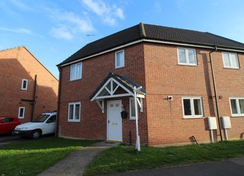 Thumbnail 3 bed semi-detached house to rent in Hudson Way, Grantham