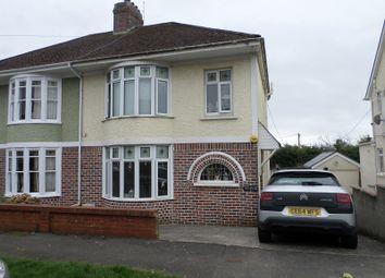 Thumbnail 3 bed semi-detached house for sale in Parcau Avenue, Bridgend, Mid. Glamorgan.