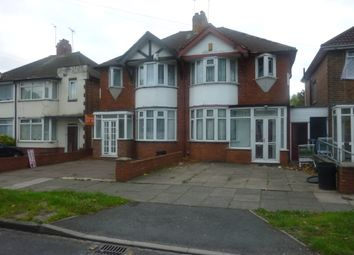 Thumbnail 3 bedroom semi-detached house to rent in Glendower Road, Perry Barr, Birmingham