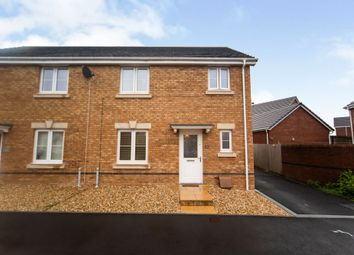 Thumbnail 3 bed semi-detached house for sale in Worcester Court, Tonyrefail, Porth