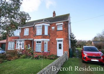 Thumbnail 3 bed semi-detached house for sale in Bulmer Lane, Winterton-On-Sea, Great Yarmouth
