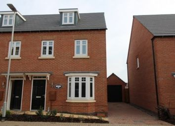 Thumbnail 3 bed semi-detached house to rent in Tamworth Close, Barrowby Edge, Grantham