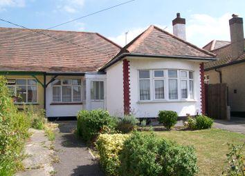 Thumbnail 2 bedroom semi-detached bungalow to rent in Hall Farm Road, Benfleet, Essex