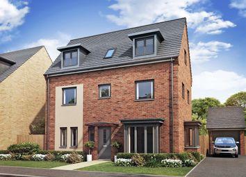 "Thumbnail 4 bed town house for sale in ""Hampton "" at Brickburn Close, Hampton Centre, Peterborough"