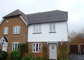 Thumbnail 3 bed semi-detached house to rent in Busbridge Close, East Malling, West Malling