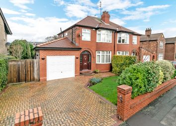 Thumbnail 3 bed semi-detached house for sale in Denbury Avenue, Stockton Heath, Warrington