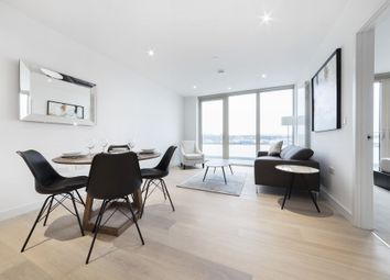 Thumbnail 1 bed flat to rent in Liner House, 2 Royal Wharf Walk, Pontoon Dock, London