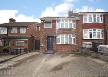 Thumbnail 4 bed semi-detached house for sale in Hillary Crescent, Luton