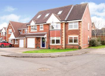 Thumbnail 5 bed detached house for sale in Orchid Place, Broughton Astley, Leicester, Leicestershire