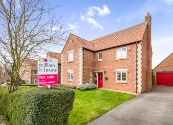 Thumbnail 4 bed detached house for sale in Pridmore Road, Corby Glen, Grantham