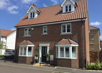 Thumbnail 5 bed detached house for sale in Crocus Street, Wymondham