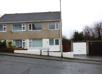 Thumbnail 3 bed semi-detached house for sale in Kingston Close, Plympton, Plymouth