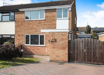 Thumbnail 3 bed semi-detached house for sale in Kestrel Close, Broughton Astley, Leicester