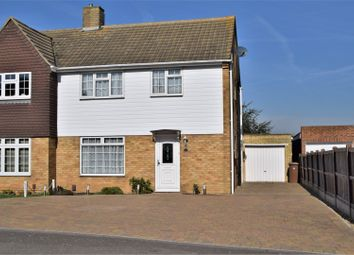 Thumbnail 3 bed semi-detached house for sale in Larkin Close, Rochester