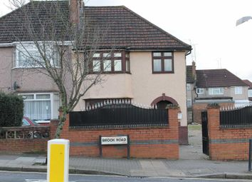 Thumbnail 4 bed semi-detached house to rent in Brook Road, Neasden, London