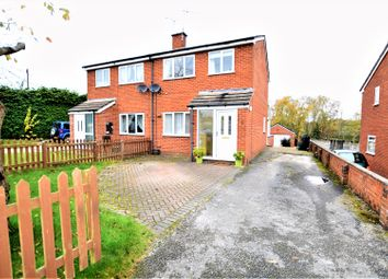 Thumbnail 3 bed semi-detached house for sale in Erw Lwyd, Wrexham