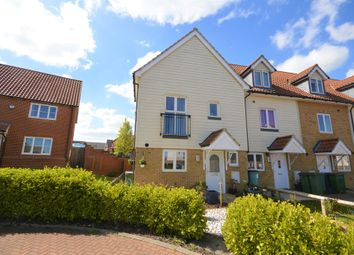 Thumbnail 3 bed end terrace house for sale in Paxton Avenue, Hawkinge, Folkestone