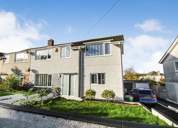 Thumbnail 4 bed semi-detached house for sale in Dunstone Drive, Plymstock, Plymouth