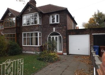 Thumbnail 3 bed semi-detached house for sale in Kingsway, Burnage, Manchester, Greater Manchester