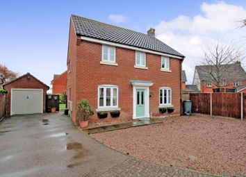 Thumbnail 4 bed detached house for sale in Holmes Close, Long Stratton, Norwich