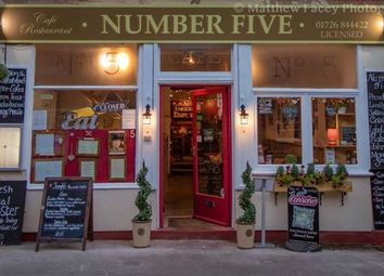 Thumbnail Restaurant/cafe for sale in Number Five Cafe, 5, Market Square, Mevagissey, Cornwall