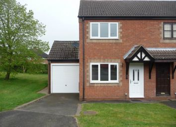Thumbnail 2 bed semi-detached house to rent in Cedar Road, Castle Gresley, Swadlincote
