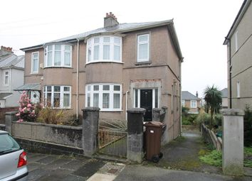 Thumbnail 3 bedroom semi-detached house for sale in Berrow Park Road, Plymouth