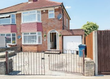 Thumbnail 3 bed semi-detached house to rent in Greencourt Avenue, Burnt Oak, Edgware