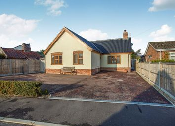 Thumbnail 3 bed detached bungalow for sale in Woodland Drive, Kirby Cane, Bungay