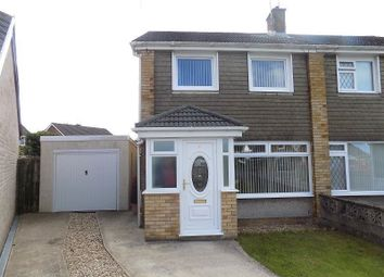 Thumbnail 3 bed semi-detached house for sale in Hall Close, North Cornelly, Bridgend.