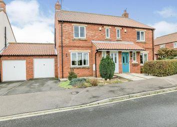 Thumbnail 3 bed semi-detached house for sale in Vicarage Farm Close, Sherburn, Malton, North Yorkshire
