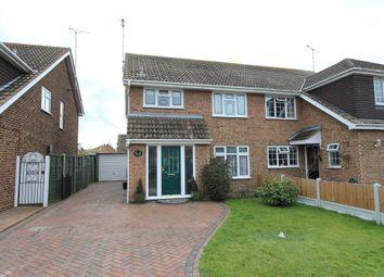 Thumbnail 3 bed semi-detached house for sale in Woodside Avenue, Benfleet, Essex