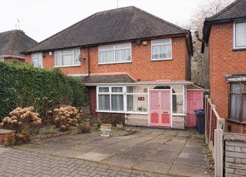 Thumbnail 3 bed semi-detached house for sale in Grestone Avenue, Birmingham