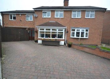 Thumbnail 4 bed semi-detached house for sale in Heddington Close, Leicester