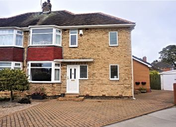 Thumbnail 3 bed semi-detached house for sale in Queens Close, Cottingham