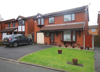 Thumbnail 4 bed detached house for sale in Shackleton Close, Old Hall, Warrington