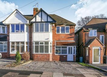 Thumbnail 3 bed semi-detached house for sale in Delrene Road, Hall Green, Birmingham, West Midlands