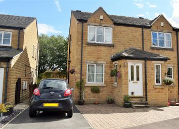 Thumbnail 2 bed semi-detached house for sale in Upper Hall View, Northowram, Halifax