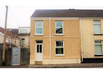 Thumbnail 4 bedroom end terrace house for sale in Burrows Road, Skewen