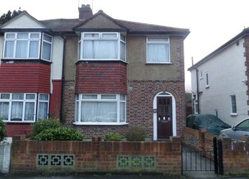 Thumbnail 3 bed semi-detached house to rent in Gould Road, Bedfont