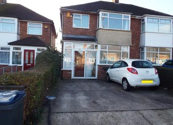 Thumbnail 3 bed semi-detached house for sale in Elmstead Avenue, Birmingham, West Midlands