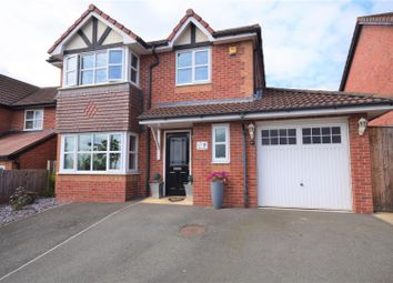 Thumbnail 4 bed detached house for sale in Ogwen Close, New Broughton, Wrexham
